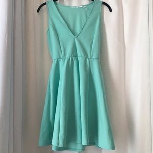 Urban Outfitters Kimchi Blue Skater Dress In Aqua